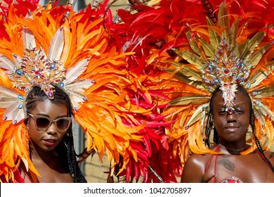 London/England - August 28 2017: Performers take part on Notting Hill Carnival, largest in Europe