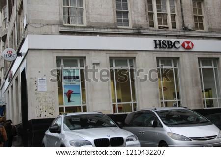 London England January 2 2016 HSBC Bank Stock Photo (Edit