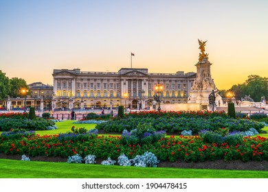 London,England- March 2020: Buckingham Palace is the London residence and administrative headquarters of the monarch of the United Kingdom. Located in the City of Westminster