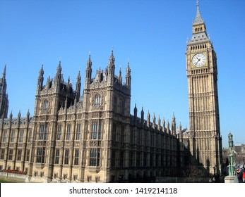 London/England - March 28, 2012: a beautiful view of Big Ben, the best-known postcard of the British capital.
