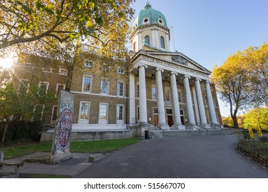 LONDON,ENGLAND - OCTOBER 1, 2016: Imperial War Museum with sun flare in London, United Kingdom