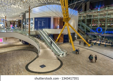 London,England on 17th Mar 2019:The O2 Arena is a multi-purpose indoor arena in the  O2 entertainment complex on the Greenwich Peninsula. The Arena is the worlds busiest music arena in the world