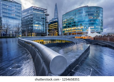 London,England on 1st Dec 2018:More London is a privately owned development on the south bank of the River Thames, near Tower Bridge in London.The buildings were designed by Foster & Partners