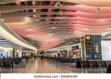London,England on 25th Feb 2018:Heathrow Terminal 4 is an airport terminal at Heathrow Airport, the main airport serving London.The terminal  was opened by the Prince and Princess of Wales  in 1988