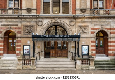 London,England on 2nd Dec 2018: The Royal College of Music in Kensington  offers education from the undergraduate to the doctoral level in all aspects of music and its theory