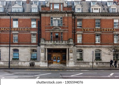 London,England on 2nd Dec 2018:Moorfields Eye Hospital NHS Foundation Trust is the leading provider of eye health services in the UK and a world-class centre for ophthalmic research and treatment
