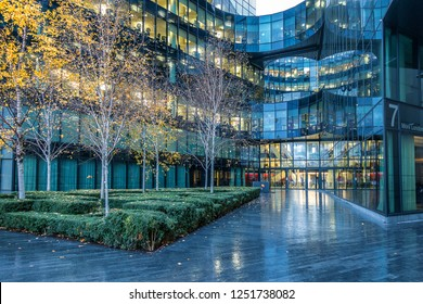 London,England on 2nd Dec 2018:Price Waterhouse Coopers London Offices  in More London.  Price Waterhouse Coopers  is the world's largest accountancy firm  measured by  revenue
