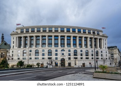 London,England on 2nd Dec 2018:Unilever House is a Grade II listed office building in the Neoclassical Art Deco style on Victoria embankment.It is occupied by the Anglo Dutch consumer goods company
