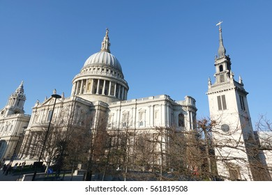 LONDON-ENGLAND-JAN 21, 2017: Cathedral of Saint Paul's in London England.