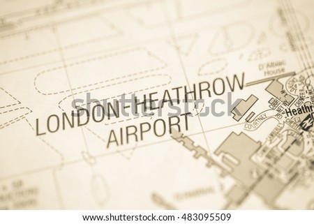 London Heathrow Airport London Uk Map Stock Photo Edit Now