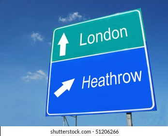 LONDON-HEATHROW road sign