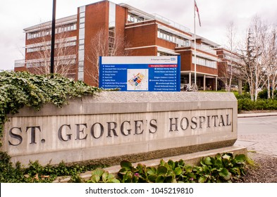 LONDON-MARCH, 2018: St George's Hospital in Tooting, south west London. One of UK's largest teaching hospital
