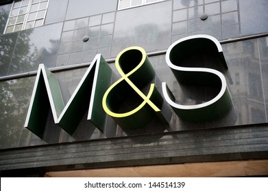 LONDON-MAY 21, 2013. M&S store in London on May 21, 2013. Marks and Spencer specialises in the selling of clothing and luxury food products. 703 stores in UK and 361 stores in more than 40 countries.