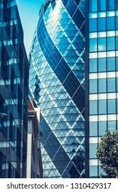 London's architecture, July, 01, 2018, Modern architecture in London city, United Kingdom