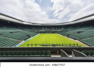 LONDON,THE UK-CIRCA MAY 2016: at the central court of Wimbledon