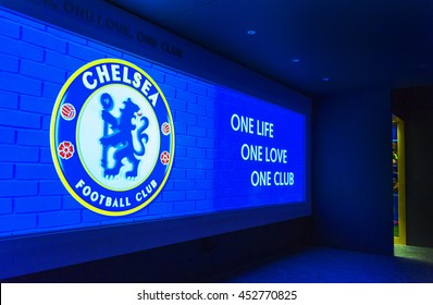 LONDON,THE UK-CIRCA MAY 2016: Cinema hall in FC Chelsea museum