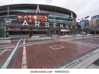 LONDON,THE UK-CIRCA MAY 2016: Emirates stadium - the official playground of FC Arsenal