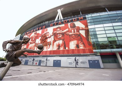 LONDON,THE UK-CIRCA MAY 2016: The Emirates Stadium-official arena of FC Arsenal