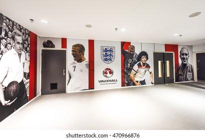 LONDON,THE UK-CIRCA MAY 2016: Visiting Wembley stadium