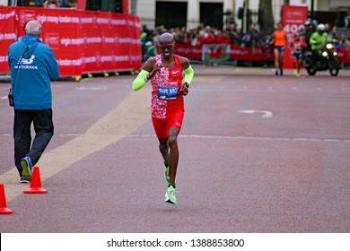 London/UK 04/28/19 Virgin Money London Marathon 2019 Sir Mo Farah pictured by Buckingham Palace about  350 yards from the finish line. He finished in 5th place