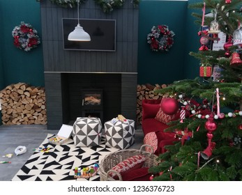 London/UK - 11.21.2018: Ideal Home Show at Christmas opens at Kensington Olympia, London