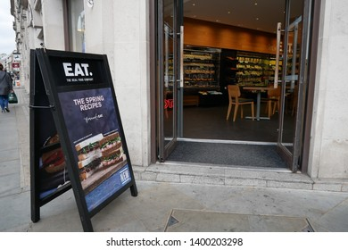 London.UK.May 17th 2019.Sandwich chain Pret a Manger is reportedly planning to buy rival Eat and turn the chain's 94 stores into vegetarian outlets.