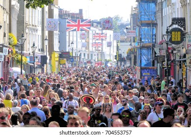 London.UK. August 28th  2017. The Notting Hill Carnival gets underway amid heightened security and very hot weather.