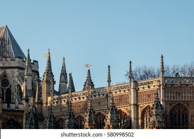LONDON/UK - FEBRUARY 13 :View of Westminster Abbey in London on February 13, 2017
