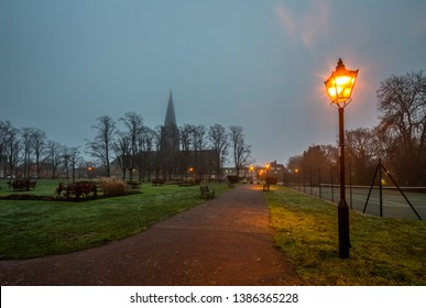 London,U.K. Hampstead Garden Suburb,10/01/2019 St Jude's Church,Central Square