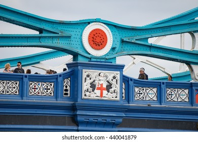 London/UK. June 19th 2016. The central section of London's iconic Tower Bridge, built between 1886-1894.