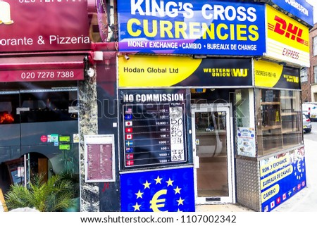 London uk june 9 2015 currency exchange stock photo edit now