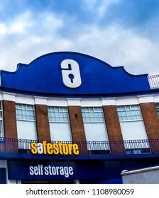 London,UK - June 9, 2015: Safestore Self Storage at Pentonville Road. London, Greater London, UK. Specialising in all types personal and business storage and moving services