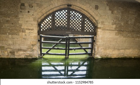 London/UK - May 26 2018: Traitor's Gate at The Tower of London