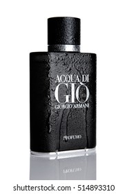 LONDON,UK - NOVEMBER 11, 2016: Giorgio Armani, Acqua di Gio fragrance for men is one of the evergreen bestselling perfumes worldwide on white
