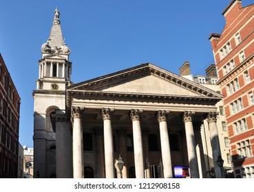 LONDON/UK - October 10, 2018. St George's Parish Church, Bloomsbury, London, England
