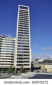 LONDON/UK - October 22, 2016. Tower block with student accommodation, King's Cross, London, England, UK