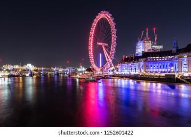 London/UK - October 26th 2018: London Eye