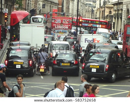 London.UK.20th, February, 2017.London has been named the seventh worst city for traffic jams in an analysis of 1,000 across the globe.