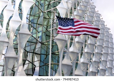 London.UK.January 16th 2018.The new American Embassy in Nine Elms London opens for business, with Visa and Citizenship services in operation.