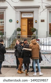London,UK-January 2019:Abbey Road recording studios made famous by the 1969 Beatles album cover