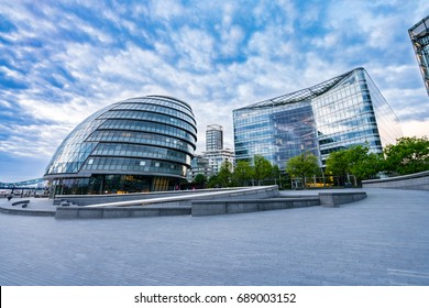 LONDON,UK-JULY 1,2017: London City Hall at Southwark riverside in early morning