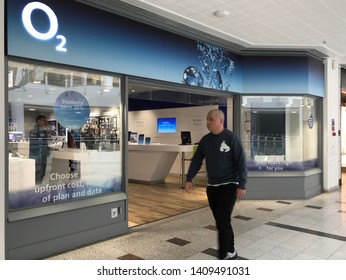 London,UK/May 28, 2019: O2 store in a department shop of London.
