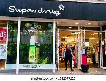 London,UK/September 10,2020: The retail store of Superdrug. Superdrug Stores plc (trading as Superdrug) is a health and beauty retailer in the United Kingdom.