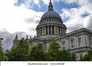 London,United Kingdom, June 2018. The imposing Cathedral of Saint Paul. It is located in Ludgate Hill, in the City. It is one of the two Anglican cathedrals in the city, the other is that of Southwark