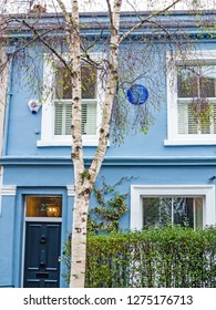 London,United Kingdom-27 March 2018:Portobello Road, Notting Hill.This is the House where George Orwel lived. He was a British journalist, essayist, writer and activist.