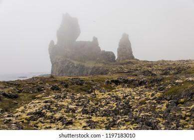 Londrangar, Iceland on a Foggy day