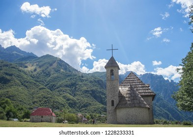 Lone Church in the Albanian Alps of Europe