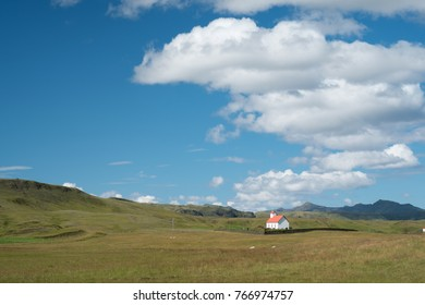 Lone church in the rural Iceland