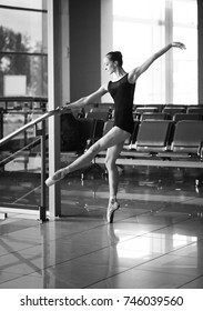 lone dancer at the airport