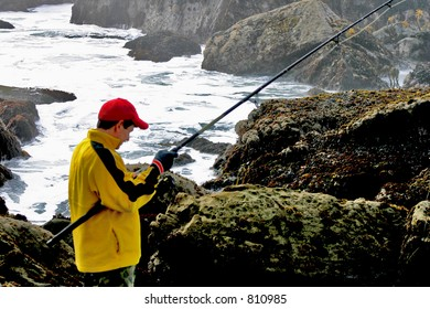 Lone Fisherman Rock Fishing